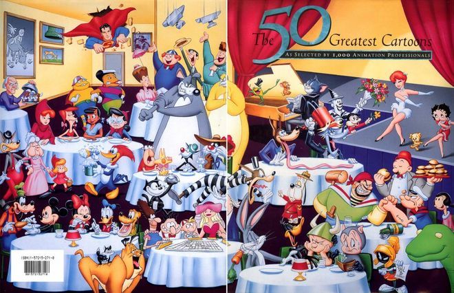 IMAGE: 50 Greatest Cartoons book by Jerry Beck
