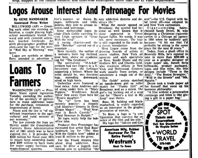 IMAGE: Newspaper clipping -- Logos Arouse Interest article