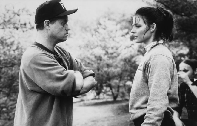 IMAGE: Demme and Foster talking
