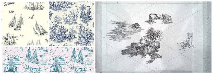 IMAGE: Wallpaper and toile illustrated designs
