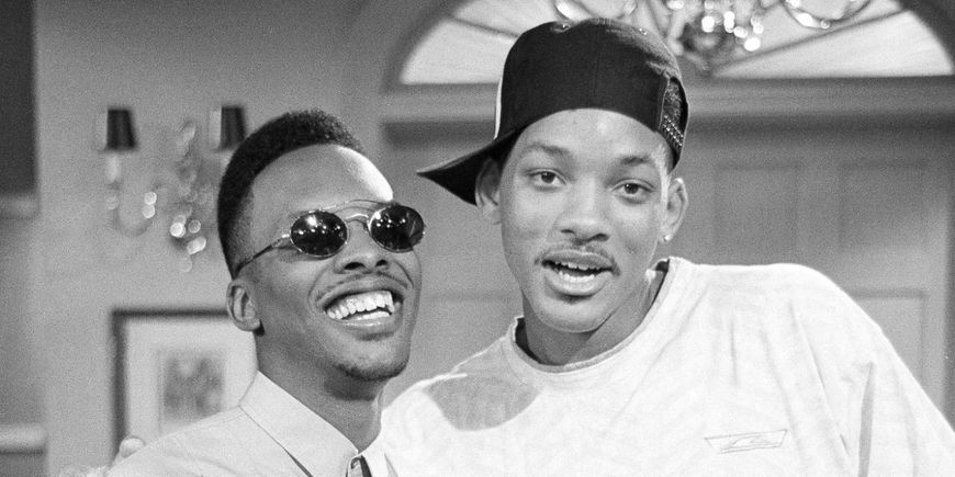 IMAGE: DJ Jazzy Jeff and The Fresh Prince On Set