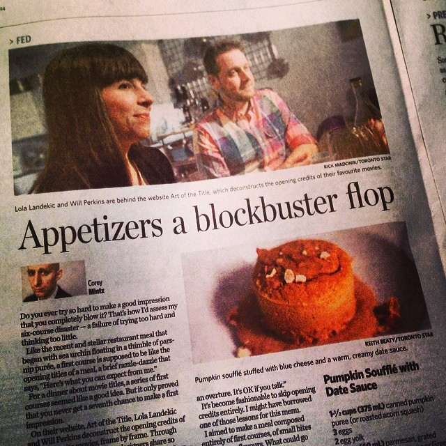 IMAGE: Lola and Will in The Toronto Star
