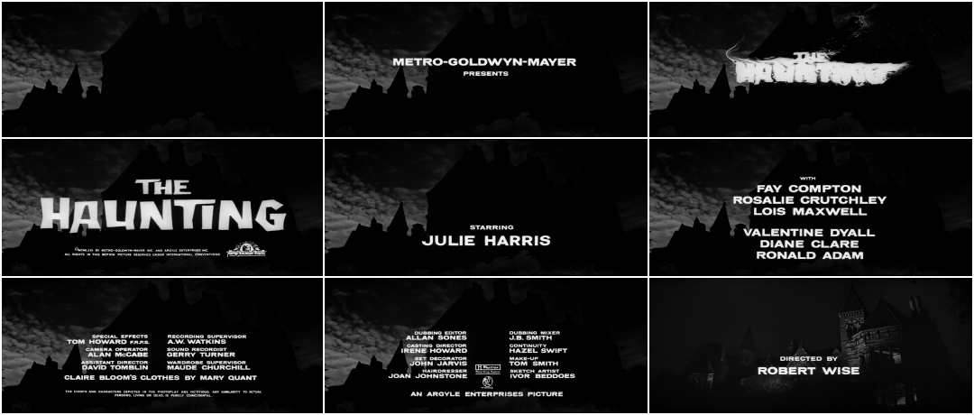 The Haunting 1963 Art Of The Title