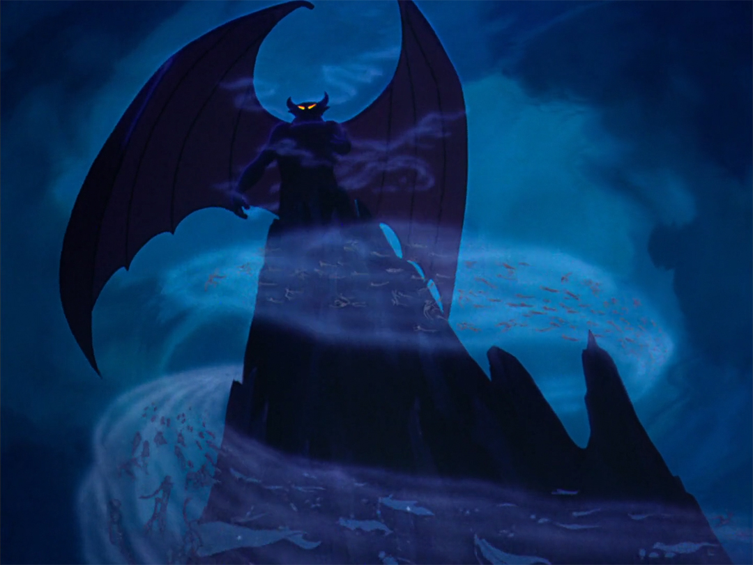 IMAGE: Fantasia still - 19 Chernabog + cloud of ghouls
