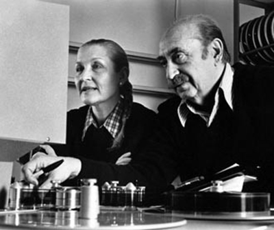 IMAGE: Saul Bass and Elaine Bass working together