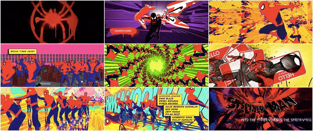 Spider Man Into The Spider Verse 2018 Art Of The Title
