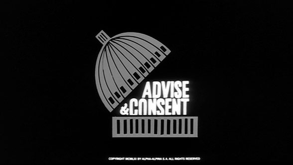 Advise & Consent (1962) — Art of the Title