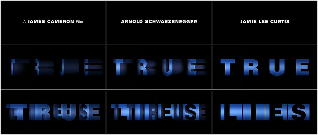 True Lies 1994 Art Of The Title