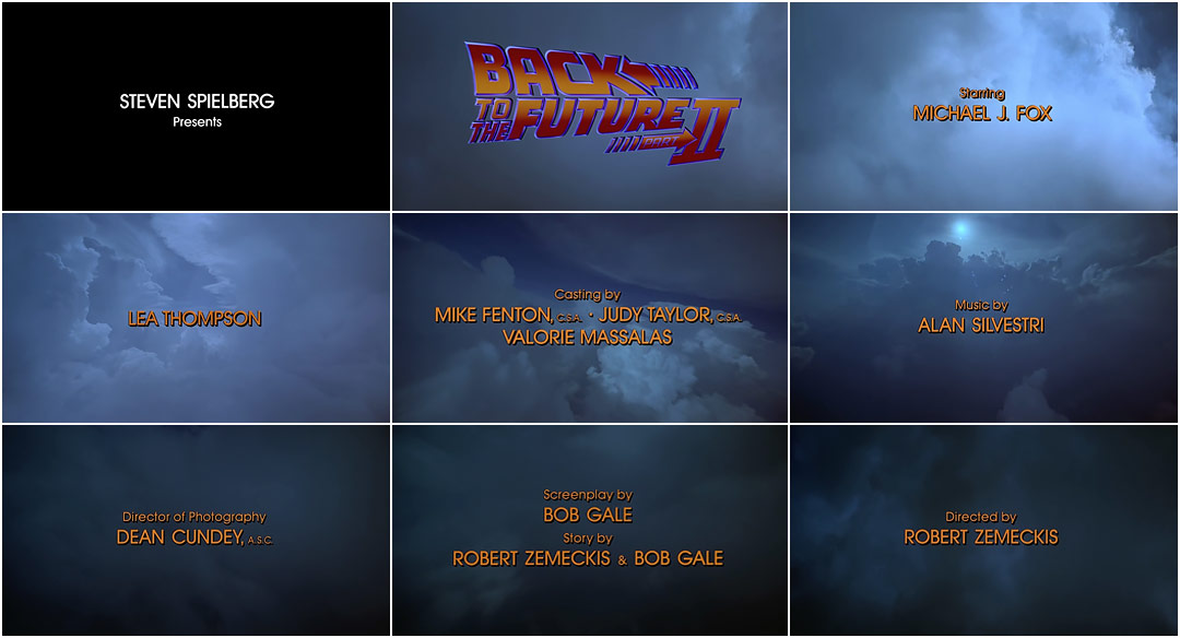 Back To The Future Part Ii 1989 Art Of The Title